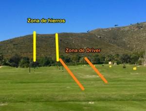 Zona hierros y driver driving range