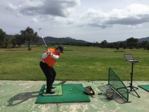 Der Golfschwung auf der Boditrak Druckmatte