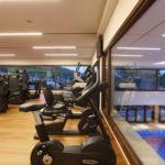 (Deutsch) Golf-Fitness: Modernste TechnoGym Geräte stehen Ihnen im Fitnesstudio nebst kompetenter Betreuung zur Verfügung.