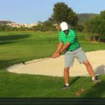 Golfplatz Spiel-Tipp: am Hang vor dem Grün